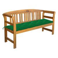 vidaXL Záhradná lavička s podložkou 157 cm akáciový masív