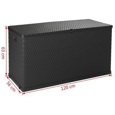 vidaXL Záhradný úložný box antracitový 120x56x63 cm