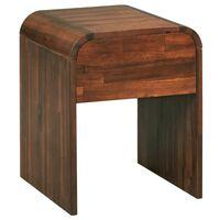 vidaXL Nočný stolík z masívneho akáciového dreva 41,5x42x52 cm
