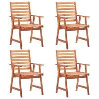vidaXL Vonkajšie jedálenské stoličky 4 ks, akáciový masív