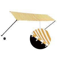 vidaXL Zaťahovacia markíza s LED 400x150 cm žlto-biela