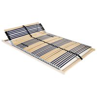vidaXL Lamelový posteľný rošt so 42 lamelami a 7 zónami 140x200 cm