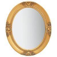 vidaXL Nástenné zrkadlo v barokovom štýle 50x60 cm zlaté