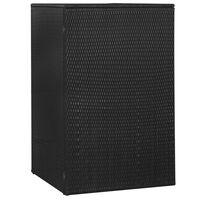 vidaXL Ohrada na odpadkový kôš, čierna 76x78x120 cm, polyratan