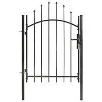 vidaXL Záhradná brána, oceľ 1x1,5 m, čierna