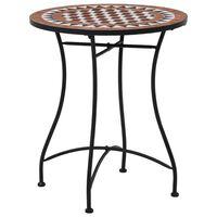 vidaXL Mozaikový bistro stolík, hnedý 60 cm, keramika
