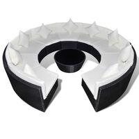 vidaXL 10-dielna záhradná sedacia súprava s vankúšmi polyratan čierna