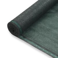 vidaXL Zástena na tenisový kurt, HDPE 2x25 m, zelená