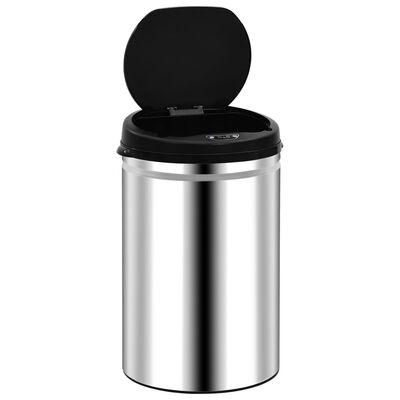 vidaXL Automatický odpadkový kôš so senzorom 30 l, nehrdzavejúca oceľ