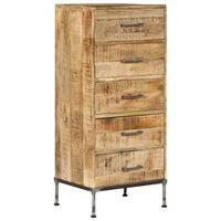 vidaXL Zásuvková skrinka z mangovníkového dreva 45x35x106 cm