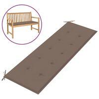 vidaXL Podložka na záhradnú lavičku, sivohnedá 150x50x4 cm