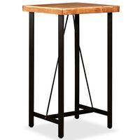 vidaXL Barový stolík, akáciový masív 60x60x107 cm