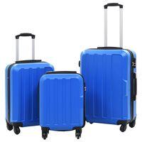 vidaXL Súprava 3 cestovných kufrov s tvrdým krytom modrá ABS