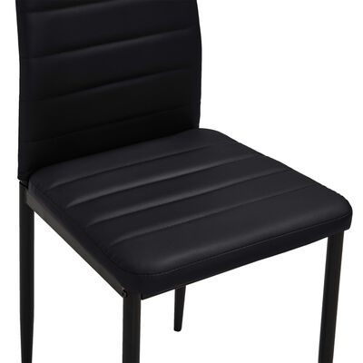 vidaXL Jedálenské stoličky 6 ks, čierne, umelá koža