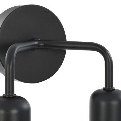 vidaXL Nástenné svietidlo čierne E27