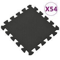 vidaXL Podložka puzzle 54 ks 4,86㎡ EVA pena čierna