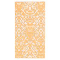 vidaXL Vonkajší koberec oranžovo-biely 190x290 cm PP