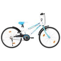 vidaXL Detský bicykel modro-biely 24 palcový