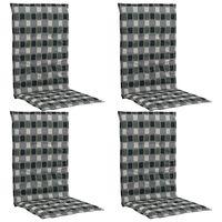vidaXL Podložky na záhradné stoličky, potlač 4 ks, farebné 120x50x3 cm