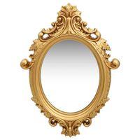 vidaXL Nástenné zrkadlo v zámockom štýle 56x76 cm zlaté