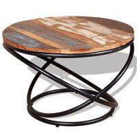 vidaXL Konferenčný stolík, recyklovaný masív 60x60x40 cm