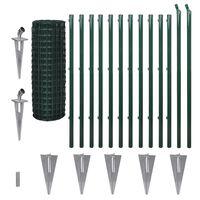 vidaXL Euro plot, oceľ 25x1,2 m, zelený