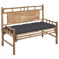 vidaXL Záhradná lavička s podložkou 120 cm bambus