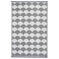 Esschert Design Vonkajší koberec 180x121 cm, sivo biely OC24