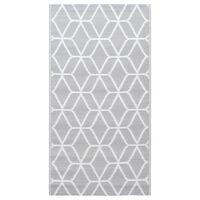 vidaXL Vonkajší koberec sivý 120x180 cm PP