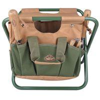 Esschert Design Záhradná stolička s taškou na náradie GT01