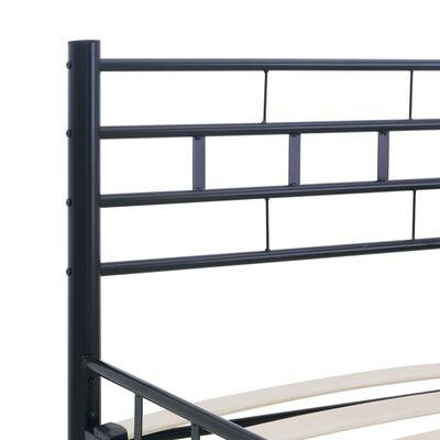 vidaXL Posteľný rám, čierny, oceľ 160x200 cm