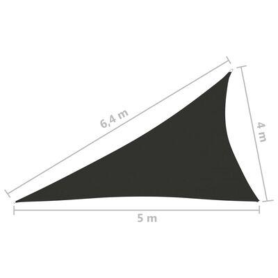 vidaXL Tieniaca plachta oxfordská látka trojuholníková 4x5x6,4 m antracitová