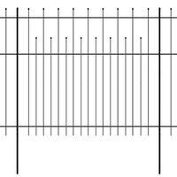 vidaXL Palisádový plot s hrotmi, oceľ 600x175 cm, čierny