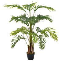 vidaXL Umelá rastlina, palma s kvetináčom, zelená 120 cm