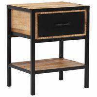 vidaXL Nočný stolík, masívne mangovníkové drevo 40x30x50 cm
