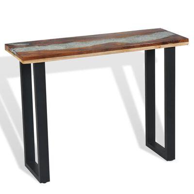 vidaXL Konzolový stolík, teakové drevo, 100x35x75 cm
