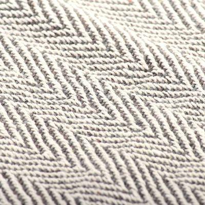 vidaXL Deka, bavlnená, rybia kosť 220x250 cm, sivá