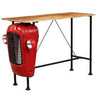 vidaXL Traktorový barový stôl mangovníkové drevo červený 60x150x107 cm