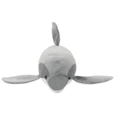 vidaXL Hračka sivý plyšový delfín