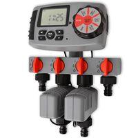 42352 vidaXL Automatický zavlažovací časovač so 4 stanicami 3 V