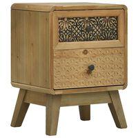 vidaXL Nočný stolík hnedý 37x30x51 cm drevený