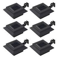 vidaXL Vonkajšie solárne svietidlá 6 ks čierne 12 cm LED štvorcové
