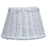vidaXL Tienidlo lampy biele 45x28 cm prútené