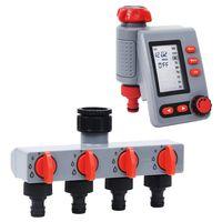 vidaXL Záhradný digitálny časovač zavlažovania s jedným výstupom a rozdeľovačom vody