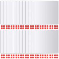 vidaXL Zrkadlové kachličky 24 ks, štvorcové, sklenené