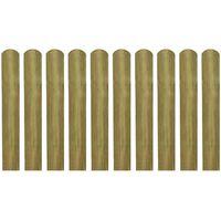 vidaXL Impregnované plotové dosky 30 ks, drevo 60 cm