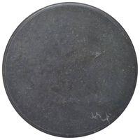 vidaXL Stolová doska čierna Ø70x2,5 cm mramor