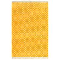 vidaXL Kilim koberec žltý 120x180 cm bavlnený vzorovaný