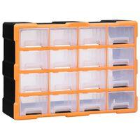 vidaXL Organizér so 16 strednými zásuvkami 52x16x37 cm