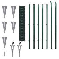 vidaXL Euro plot, oceľ 10x1,5 m, zelený